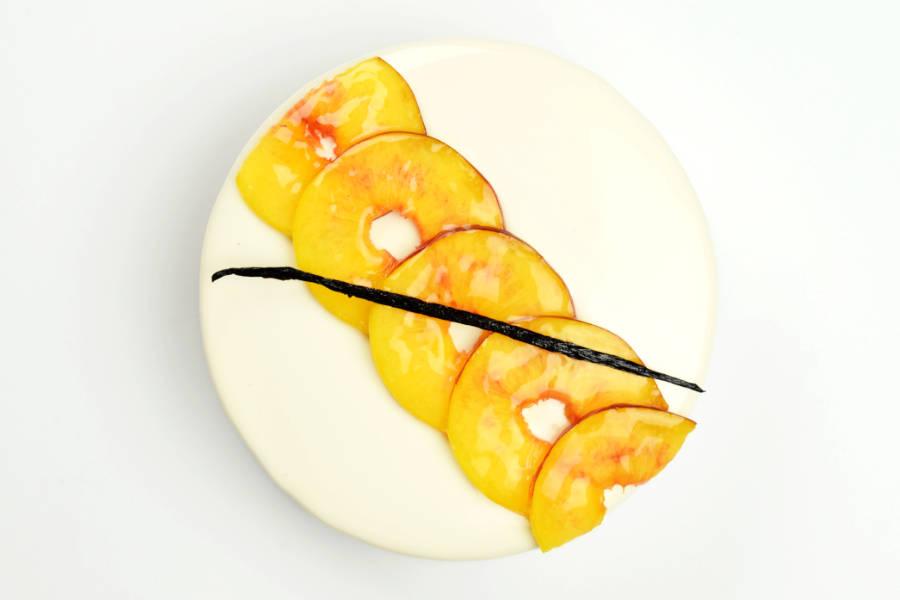 Milk Peach Entremet